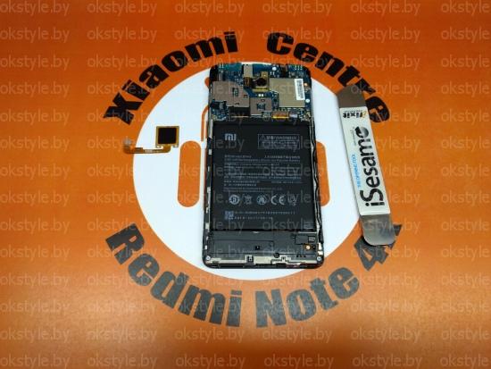 замена сканера отпечатка пальца Xiaomi Redmi Note 4x